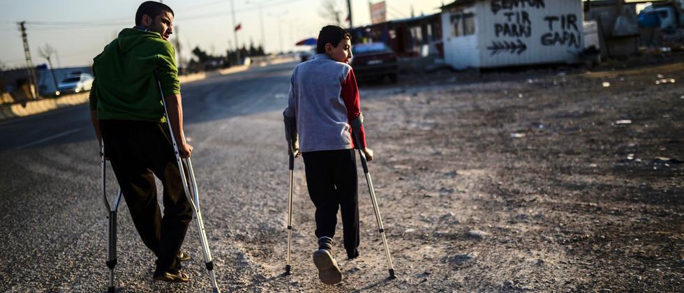 Flüchtlinge aus Aleppo in einem Camp im Süden der Türkei