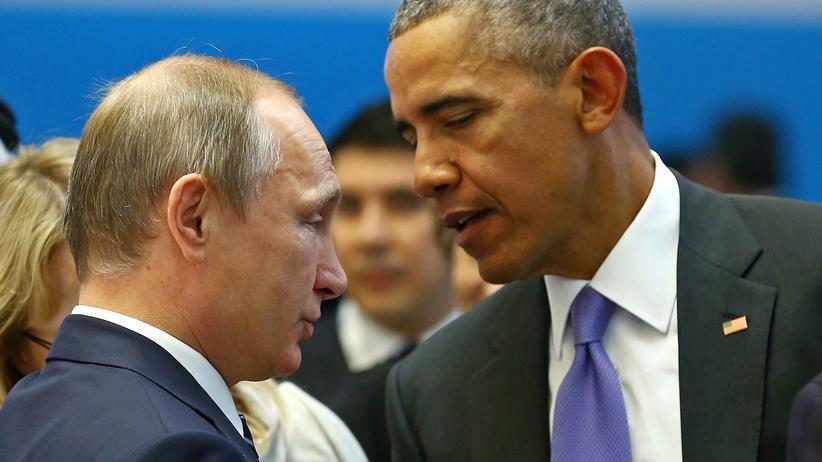 Syrien: Russlands Präsident Wladimir Putin und US-Präsident Barack Obama bei einem Gespräch auf dem G-20-Gipfel in Antalya im November 2015