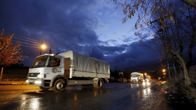 Die syrische Regierung will einen weiteren Hilfskonvoi ins belagerte Madaja durchlassen.