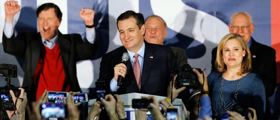 Der Republikaner Ted Cruz bei einer Wahlkampfveranstaltung.