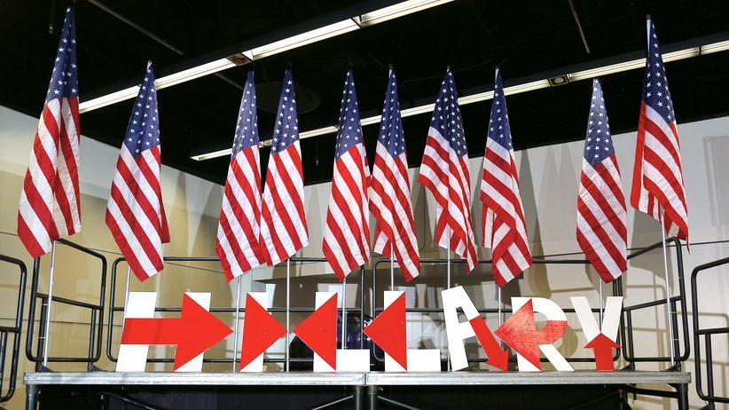 US-Vorwahl in Iowa: Hillary Clintons Bühne in Des Moines, Iowa