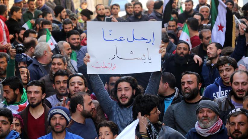 Syrien: Anti-Regime-Proteste im syrischen Aleppo