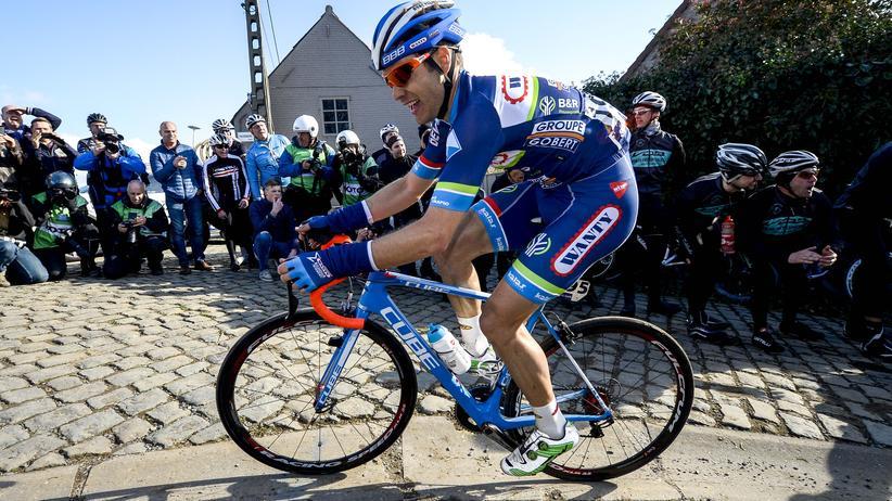 Radsport: Der Radsportler Antoine Demoitié bei einem Eintages-Radrennen am 25. März 2016
