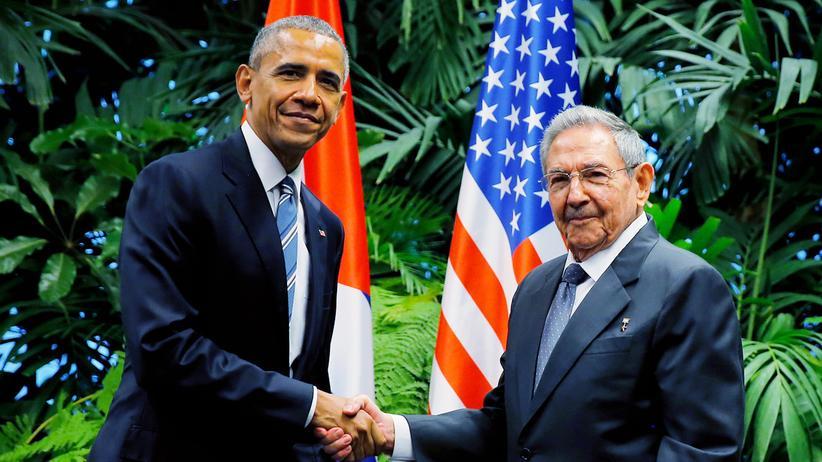 Obama und Castro in Kuba