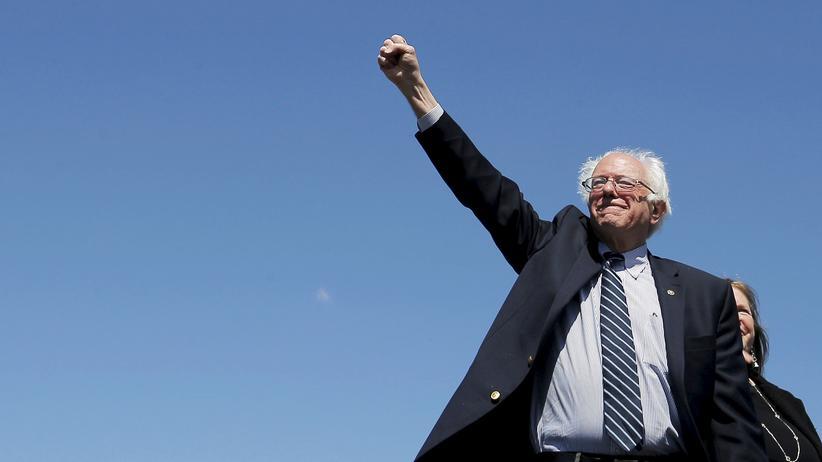 Der US-Präsidentschaftsbewerber Bernie Sanders während eines Auftritts in Texas