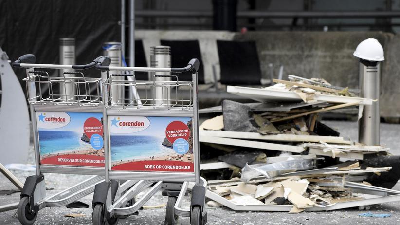 Der Flughafen von Brüssel nach den Anschlägen am Dienstag