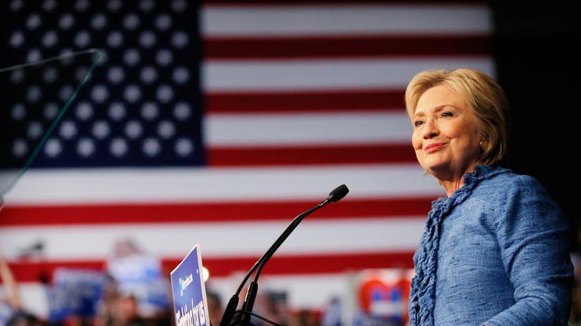 US-Wahlkampf: Hillary Clinton, Bewerberin um die demokratische US-Präsidentschaftskandidatur