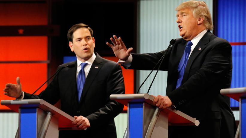 Republikaner: Donald Trump sah sich bei der TV-Debatte der Republikaner auch gezwungen, seine Männlichkeit zu verteidigen.