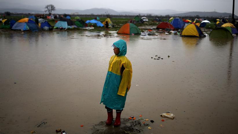 Idomeni: Flüchtlinge in der Nähe von Idomeni