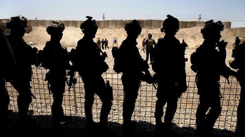 """""""Islamischer Staat"""": Irakische Spezialeinheiten bei einem Anti-Terror-Training (Archivbild)"""