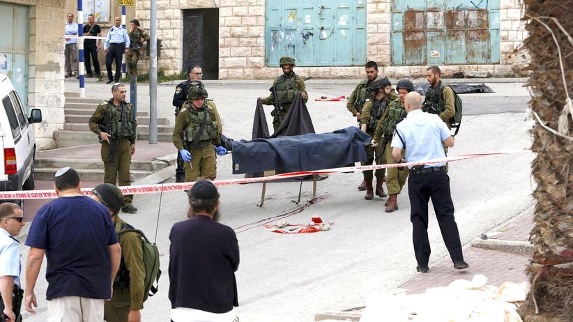 israelischer Soldat palästinensischer Angreifer Kopfschuss