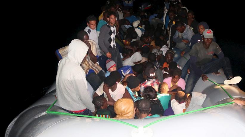 Libysche Flüchtlinge