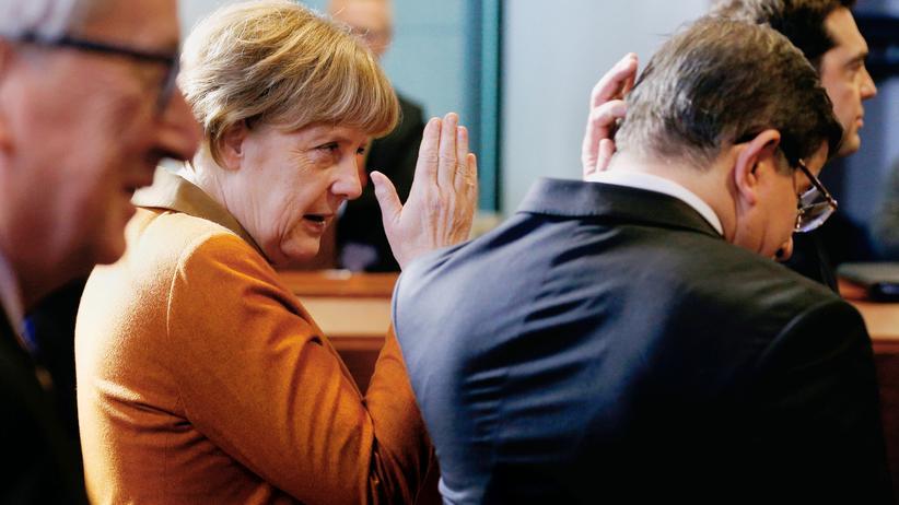 EU-Gipfel: Bundeskanzlerin Angela Merkel und der türkische Ministerpräsident Ahmet Davutoğlu beim letzten EU-Türkei-Gipfel in Brüssel