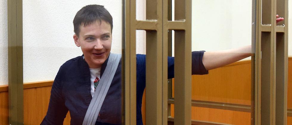 Die ukrainische Militärpilotin Nadija Sawtschenko