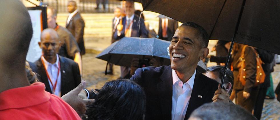 US-Präsident Barack Obama während seines Rundgangs durch die Altstadt von Havanna