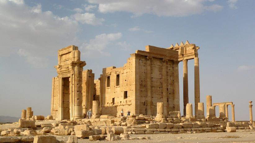 Der Baaltempel in der syrischen antiken Stadt Palmyra vor der Eroberung durch die IS-Miliz im August 2015