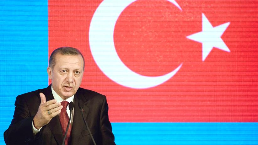 Pressefreiheit: Der türkische Staatschef Recep Tayyip Erdoğan auf einer Pressekonferenz in Istanbul (Archivbild)