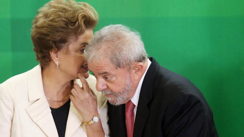 Brasilien: Brasiliens Präsidentin Dilma Rousseff und Ex-Präsident Luiz Inácio Lula da Silva in Brasília