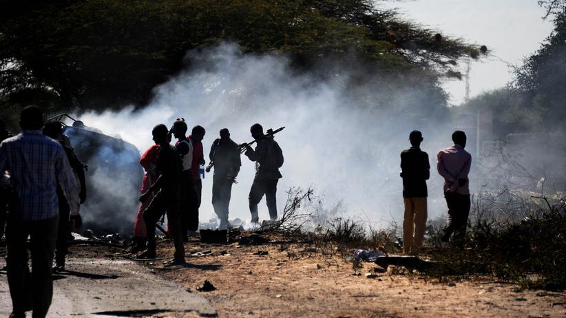 Somalia: Ein Angriff der Shabaab-Miliz auf einen AU-Konvoi in Mogadischu (Archiv)
