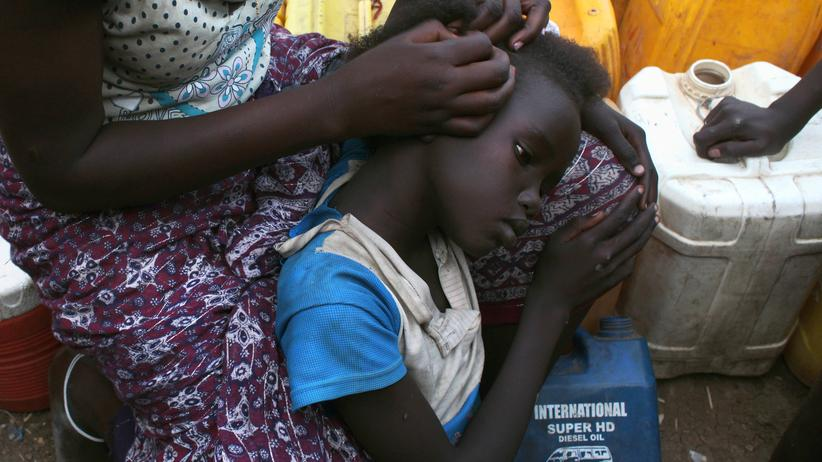 Bürgerkrieg Südsudan: Ein Mädchen in einem UN-Flüchtlingscamp in Südsudan