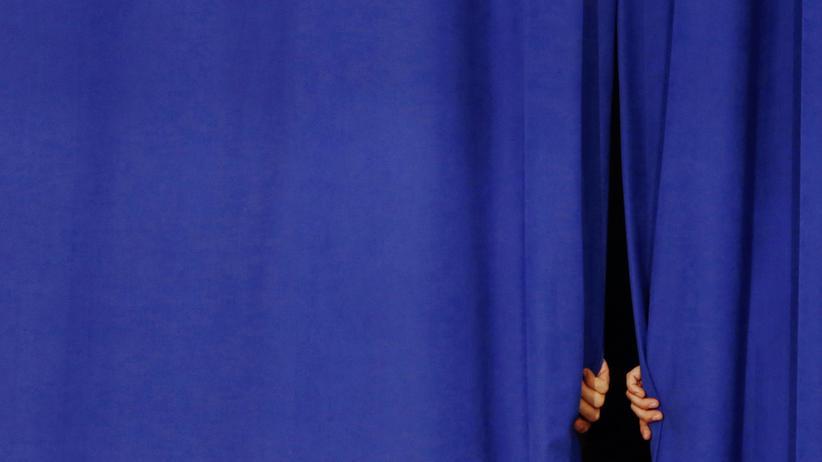 Vor der Rede des rebuplikanischen Präsidentschaftskandidaten Governor John Kasich in Ohio