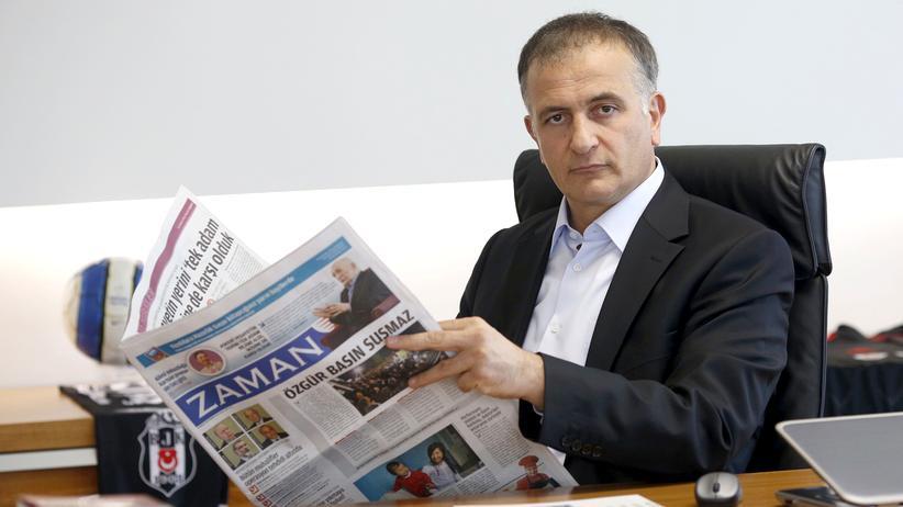"""""""Zaman"""": Der Chefredakteur von """"Zaman"""", Ekrem Dumanlı, in der Redaktion in Istanbul (Bild aus dem Jahr 2014)"""