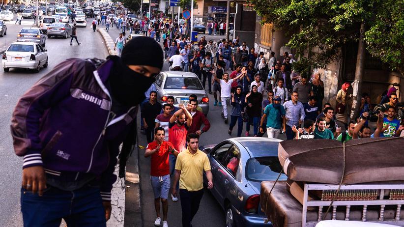Ägypter in Kairo demonstrieren gegen Staatschef Abdel Fattah al-Sissi