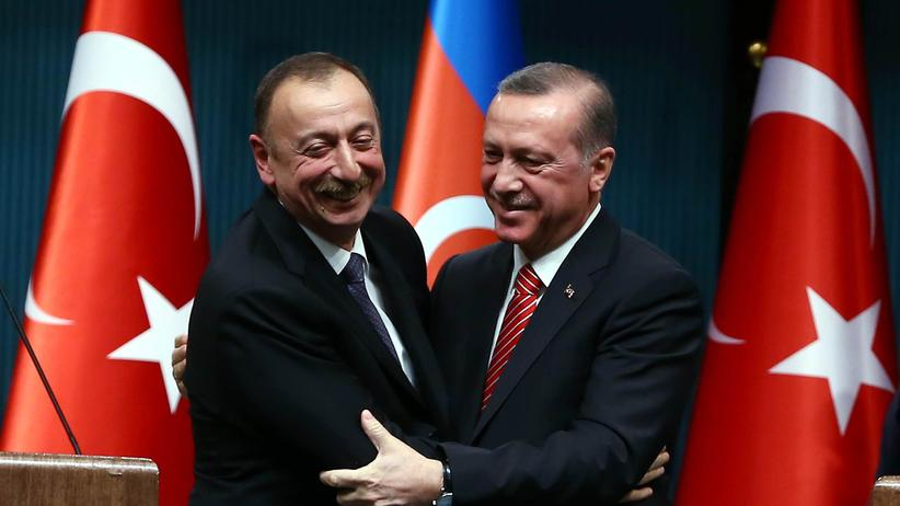 Ilham Aliyev und Recep Tayyip Erdogan