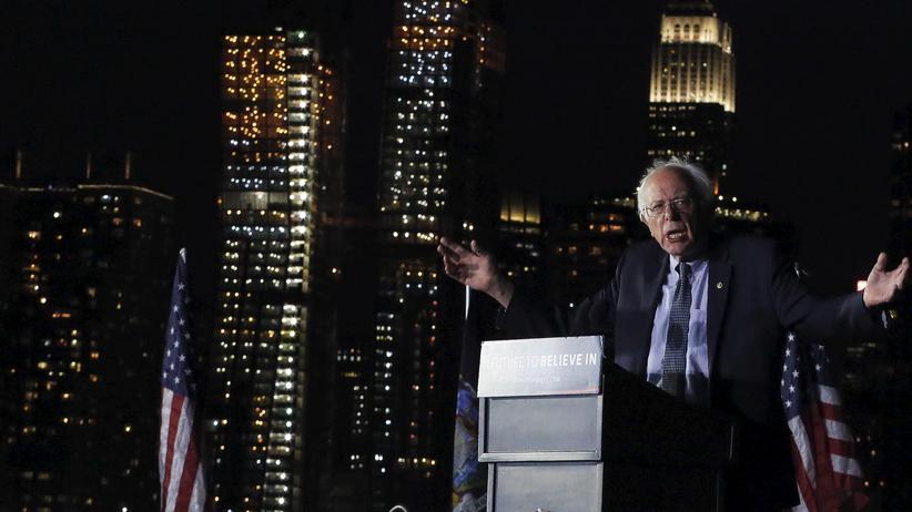Bernie Sanders auf einer Wahlkampfveranstaltung