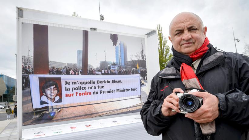 Erdogan Foto Ausstellung Genf
