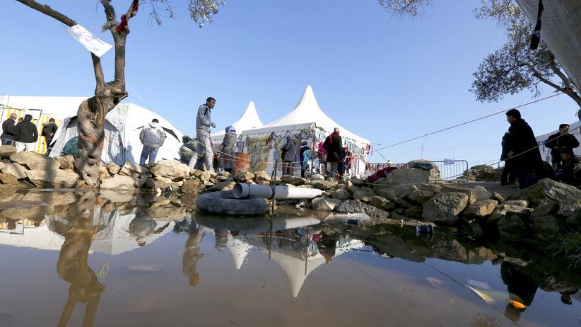 Griechenland Auffanglager Krawalle