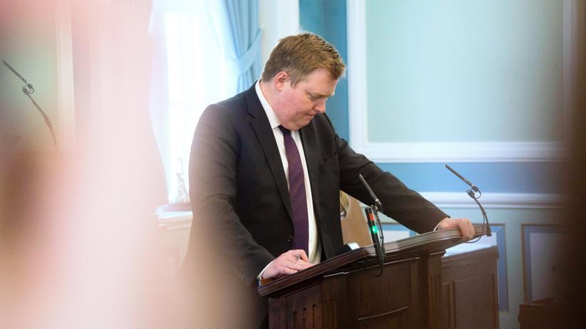 Island: Islands Premierminister Sigmundur Davíð Gunnlaugsson