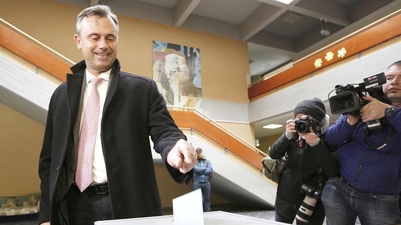 Der Kandidat der rechtspopulistischen Freiheitlichen Partei (FPÖ), Norbert Hofer