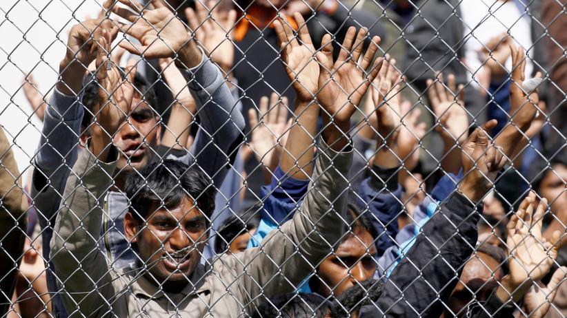 Registrierungszentrum Griechenland Flüchtlinge
