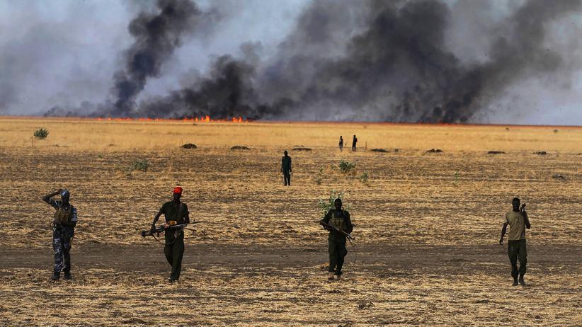 Südsudan: Südsudanesische Rebellenkämpfer im Bundesstaat Upper Nile