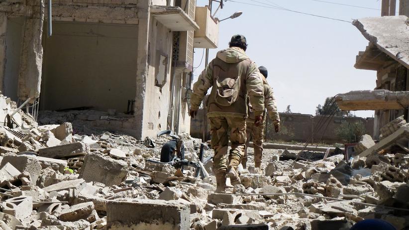 Syrien: Soldaten der syrischen Armee am 27. März in Palmyra