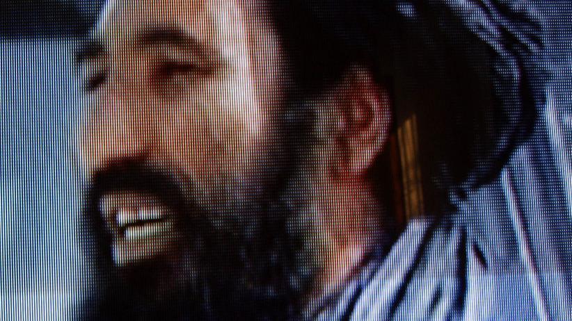 Akhtar Mansur: Talibanführer Akhtar Mansur in einem undatierten Beitrag des afghanischen Fernsehens