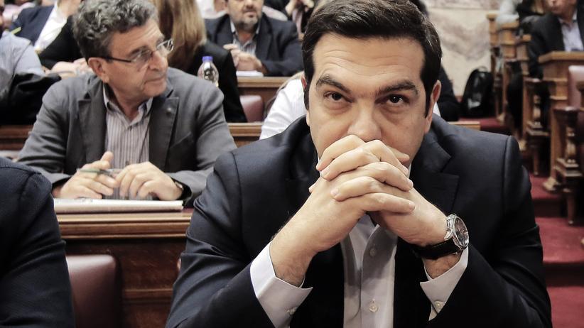 Griechenland: Griechenlands Ministerpräsident Alexis Tsipras im Athener Parlament