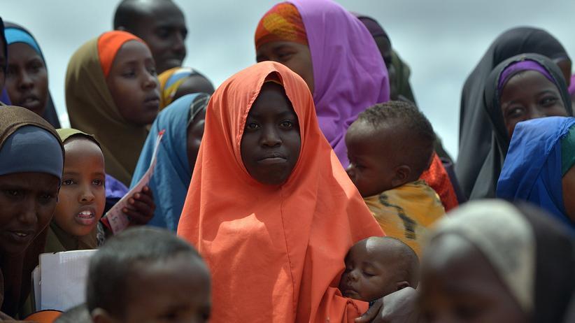 Flüchtlingskrise: Menschen im Flüchtlingslager Dadaab (Kenia).