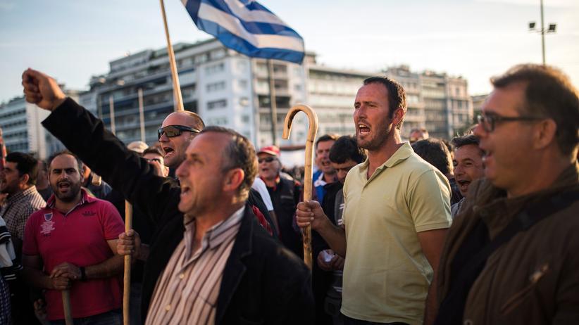 Griechenland: Demonstranten in Athen wehren sich gegen die Sparpläne der Regierung