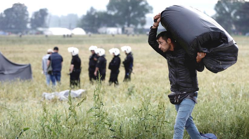 Idomeni Räumung Flüchtling Zelt