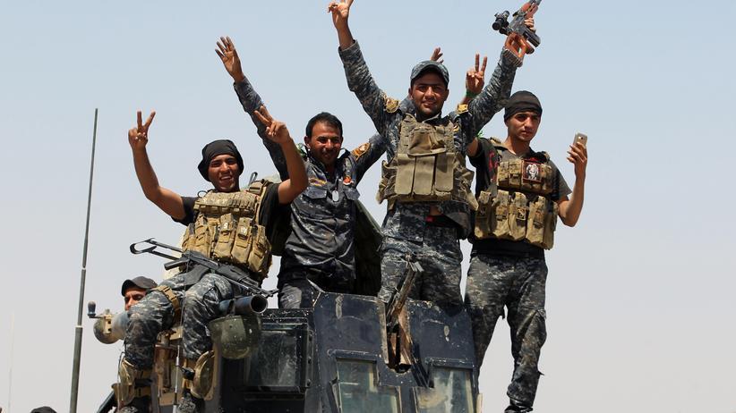 Kämpfer der irakischen Regierungstruppen in der Provinz Anbar
