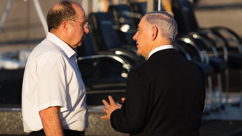 Israel: Israels Premierminister Benjamin Netanjahu (rechts) und Verteidigungsminister Mosche Jaalon