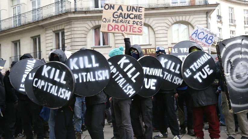 Gerechtigkeit: Französische Schüler und Studenten demonstrieren gegen eine Reform des Arbeitsgesetzes.