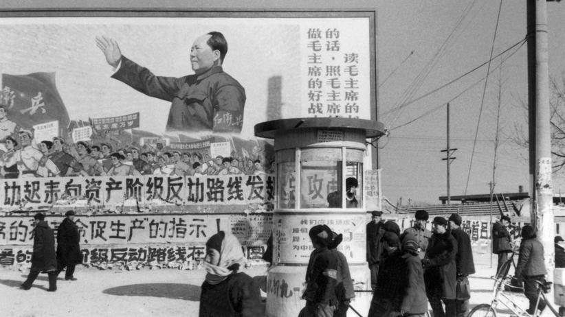 Poster im Zentrum Pekings