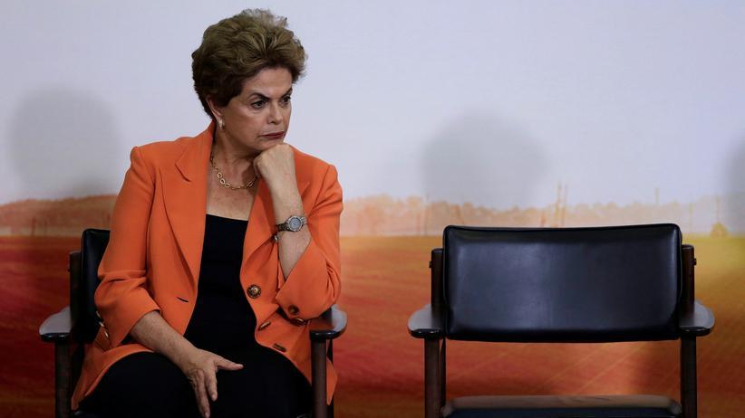 Brasiliens Präsidentin Dilma Rousseff im Planalto-Palast in Brasília