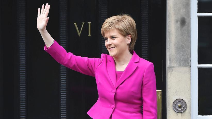 Schottland: Schottlands Ministerpräsidentin von SNP, Nicola Sturgeon