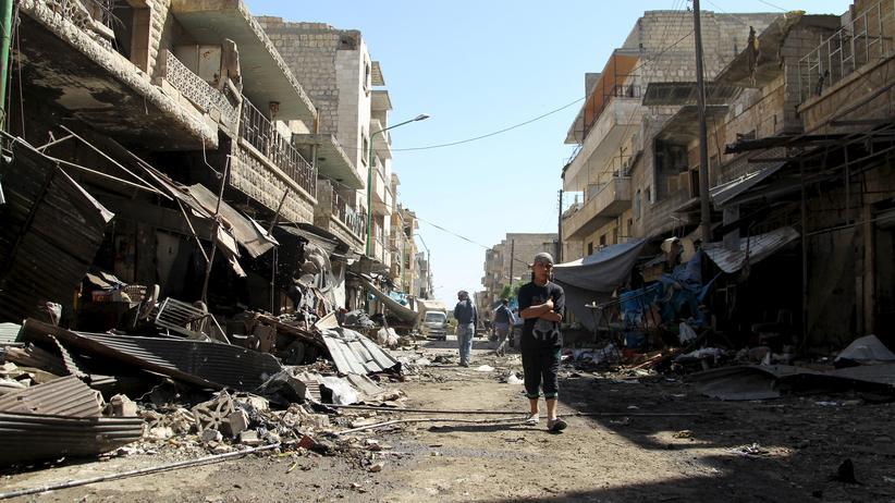 UN-Bericht: Zerstörte Gebäude in der Stadt Maarat al-Numan in der Provinz Idlib