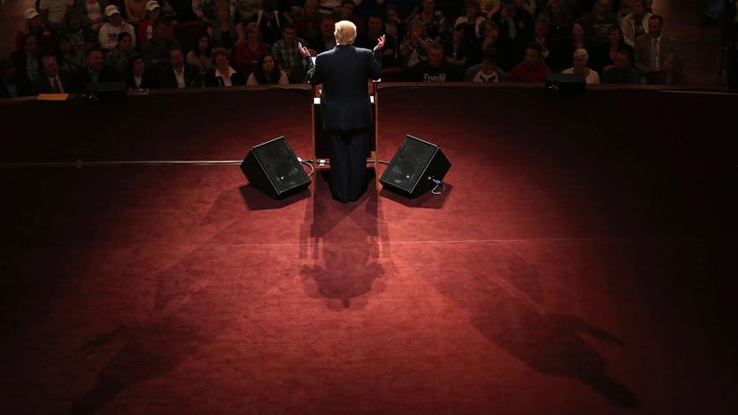 US-Wahlkampf: Der republikanische Präsidentschaftskandidat Donald Trump bei einem Auftritt in Carmel, Indiana