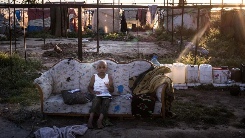 Flüchtlinge: Ein syrischer Junge in einem Zeltlager am Rande der türkischen Stadt Izmir